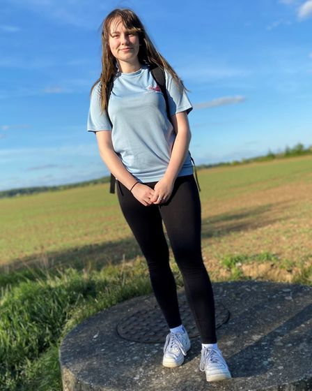 Beth Jones completed 5.2km for the challenge. Picture: COLLEGE OF WEST ANGLIA