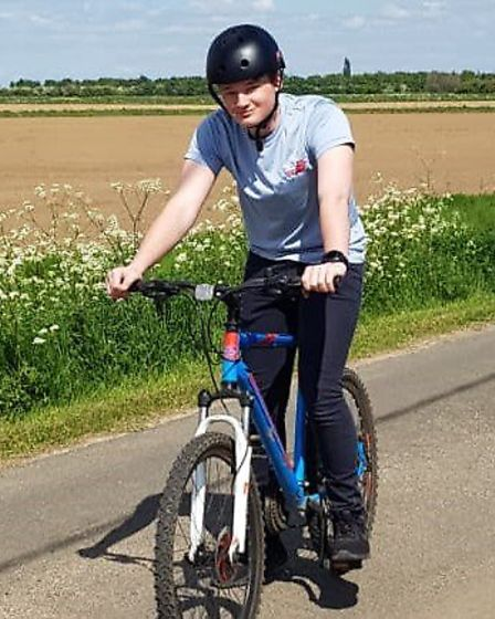 Joe Morley cycled over 15k. Picture: COLLEGE OF WEST ANGLIA