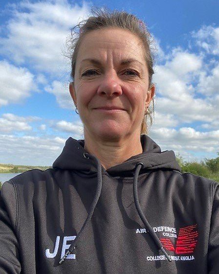 Jo Evans, air and defence lecturer at the college, completed over 5k for the challenge. Picture: COL