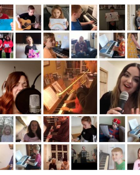 Musical videos filmed by people from all over the country have helped to bring smiles to the faces o