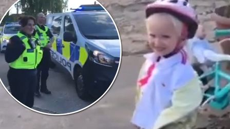 Lexie received a visit from Fen Cops on Wednesday, May 13 on her sixth birthday. Picture: Facebook/F