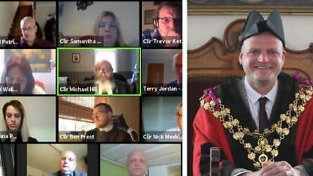 Wisbech town council held its annual meeting and mayor making via Zoom tonight and it was streamed o