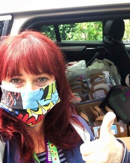 Susanna Mateu delivering packages in Welwyn-Hatfield. Picture: Potential Kids.