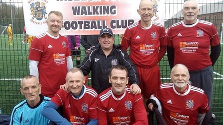 The Wisbech Town FC Walking Football team finished second in the Peterborough and District Football