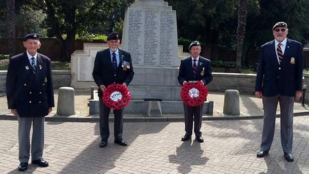 The Royal British Legion (RBL) Wisbech branch celebrated VE Day to remember the fallen. Pictured are
