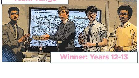 Team Tango from Dame Alice Owens' School in Potters Bar won in the Sixth Form and college category o