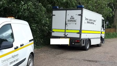 Explosive experts were called to deal with an old wartime bomb found in the Fens. Picture; FENLAND