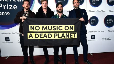 Foals during the Hyundai Mercury Prize 2019. Photograph: Ian West/PA.