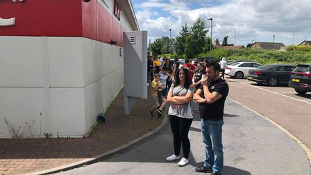 Customers at the March KFC drive-thru were asked to walk through following problems with the store's