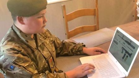 Cambridgeshire Army Cadet Force 'keeps the flame alive' during lockdown. Cadet sergeant Charlie Rice