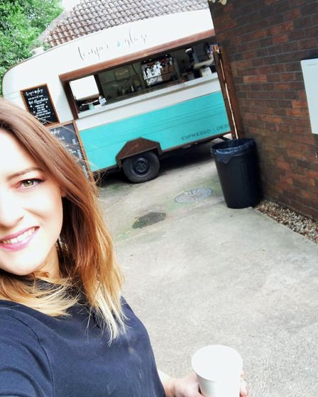 Jasmin Hartley along with Philip Norris run the Temper and Glaze mobile cafe after renovating a rund