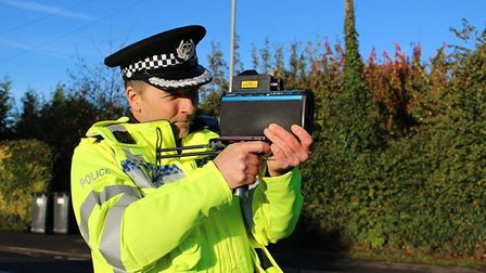 The National Police Chiefs Councils anti-speeding campaign began this week. Picture: CAMBS POLICE