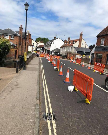 Welwyn High Street is currently running as a one way system. Picture: Colin Johnson