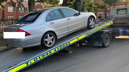 Police seized an uninsured Mercedes car on Clarkson Avenue, Wisbech after a successful chase. Pictur