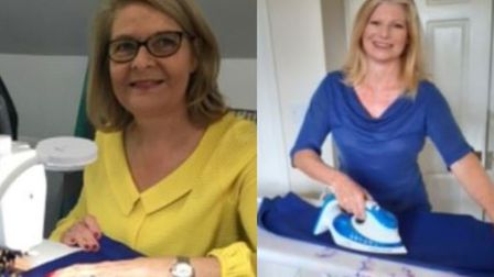 Jayne Walpole (left) who runs Stitch Studio Sewing School in Wisbech St Mary decided to round up a t