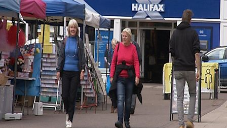 Shoppers returning to Wisbech Market after it reopened amid the coronavirus pandemic. Picture: Archa