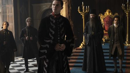 The Emperor of Russia, Peter (Nicholas Hoult), Archbishop (Adam Godley) and Count Orlo (Sacha Dhawan