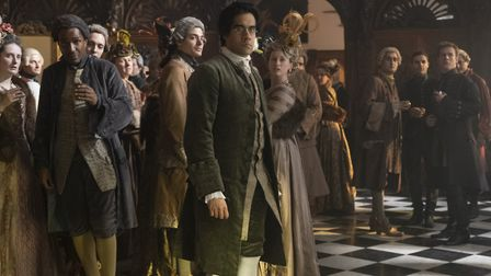 Orlo (Sacha Dhawan) in The Great. Scenes of the TV series were filmed at Hatfield House. Picture: Ni