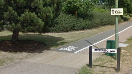 The boy was arrested in Mosquito Way, Hatfield for assault. Picture: Google Street View