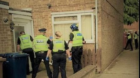 A man was reported to court for drug offences after police uncovered cannabis when they raided his h