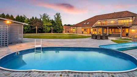 The stunning barn conversion at Newton-In-The-Isle built by a Fenland couple now up for sale with a