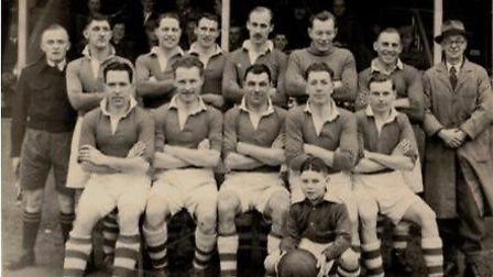 Wisbech Town FC in the 1947-48 season, their first campaign at Fenland Park when they retained the U