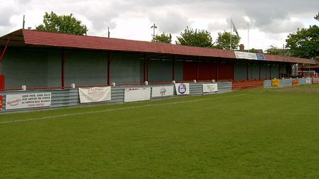 The Lerowe Road End at Fenland Park, the former home of Wisbech Town FC. Picture: SPENCER LARHAM
