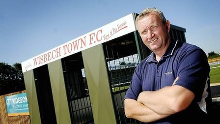 Wisbech Town FC chairman Paul Brenchley outside the Elgoods Fenland Stadium. Picture: ARCHANT