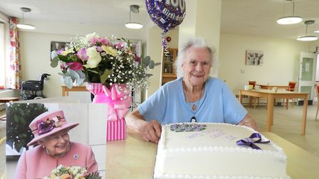 Former Fenland farm worker Connie Scott celebrated her 100th birthday with her close family while re