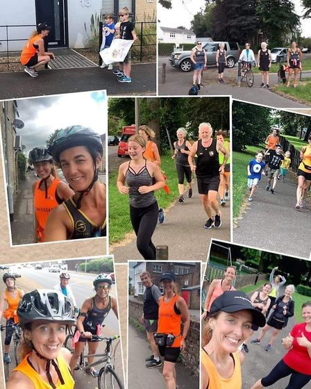 Three Counties Running Club member Dawn Ball completed a double duathlon to raise awareness for the