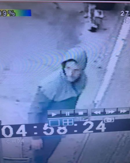 Clear CCTV images show a man smashing his way into B H Porter and Son in Wisbech on June 27 using a
