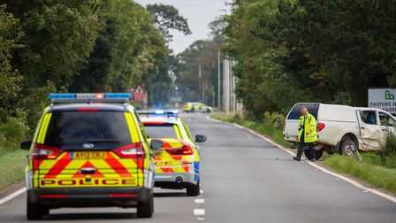 A motorcyclist has been taken to hospital following a serious collision on the A47 at The Causeway i