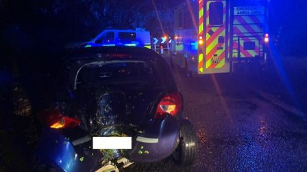 A driver was taken to hospital and another reportedly fled the scene after a crash on Dowgate Road,