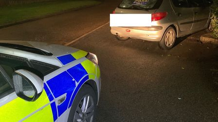 Two men fled the scene as police officers seized an uninsured vehicle in Wisbech. Picture: FACEBOOK/