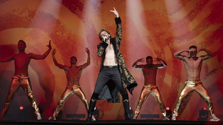 Dan Stevens as Alexander Lemtov in Eurovision Song Contest: The Story of Fire Saga. In the movie, Le