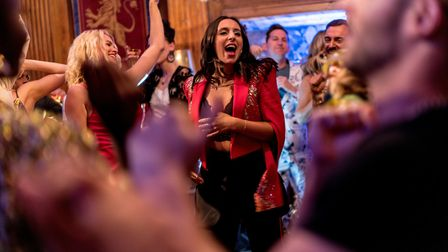 Ukrainian singer Jamala in Eurovision Song Contest: The Story of Fire Saga. Picture: Jonathan Olley/