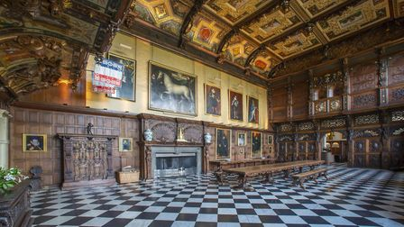 The Marble Hall at Hatfield House. Picture: Hatfield House.