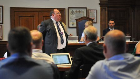 Fenland District Council leader Chris Boden. On June 25 he delivered a key note speech on tackling h
