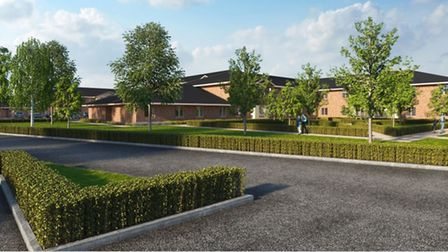 3D view of trhe 100-bed care home at Magazine Lane, Wisbech, that won approval from Fenland planners