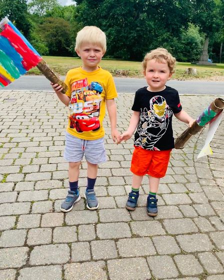 The Children of St John's School Digswell took part in a sponsored Rainbow Relay. Picture: Children