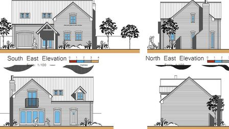 Revised plans that were submitted to Fenland planners for a home on the former Anglian Water sewerag