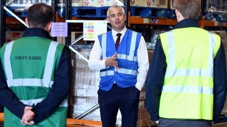 MP Steve Barclay on a visit to Bretts Transport Ltd. earlier this month. Picture: FACEBOOK/STEVE BAR