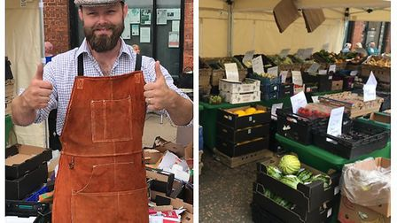 Nathaniel Humphreys has now launched market stalls across the Fens after delivering fruit and veg to