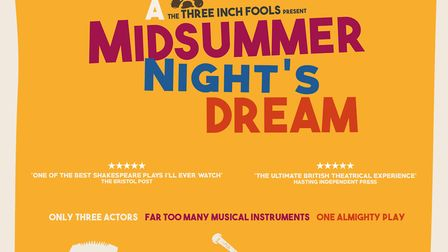 Three Inch Fools will be performing A Midsummer Night''s Dream in a safe, socially distanced environ