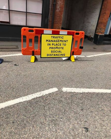 The measures on Welwyn High Street allow people to socially distance. Picture: Colin Johnson