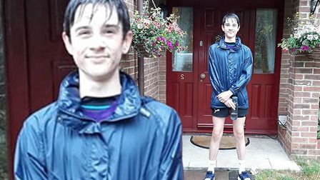 James Hall from Wisbech has nearly completed a 260-mile sprint and has raised almost 1,500 for NHS c
