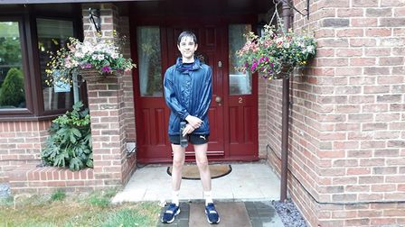 James Hall from Wisbech has nearly completed a 260-mile sprint and has raised almost £1,500 for NHS