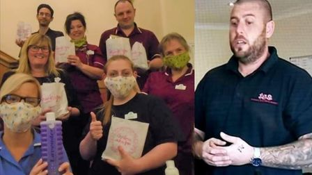 Alex Neal, of Wisbech, has been making and supplying face masks for local hospitals and surgeries du