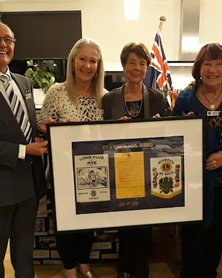 Members of the Wisbech Lions 'zoomed' to Australia for the annual twinning ceremony on July 1. Pictu