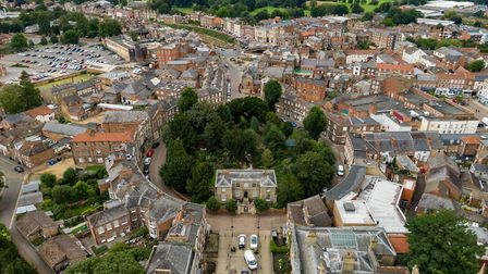 Aerial of Wisbech Castle.Town Centre , WisbechMonday 20 July 2020.Picture by Terry Harris.